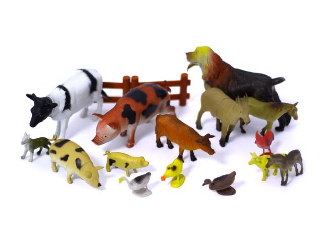 Животные Ферма пластик 15 шт Н639-1-2 в пакете