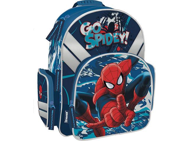 Ранец школьный Spiderman 38*29*15см Академия Групп SMCB-MT1-9621