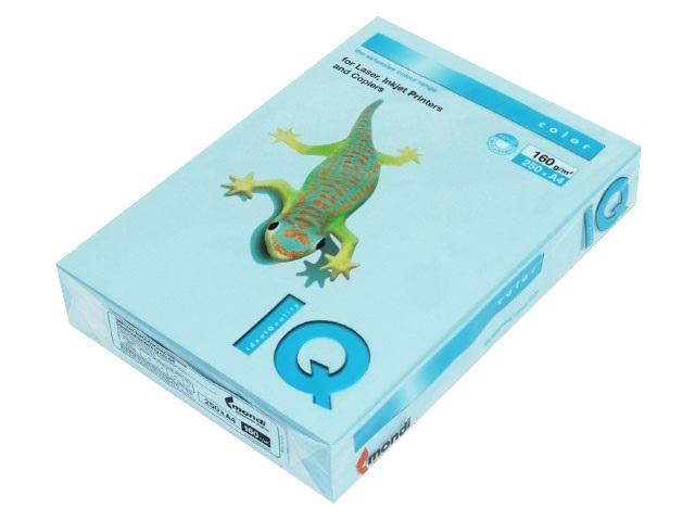 Бумага А4 160 г/м2 250 л. IQ Color пастель голубой лёд OBL70