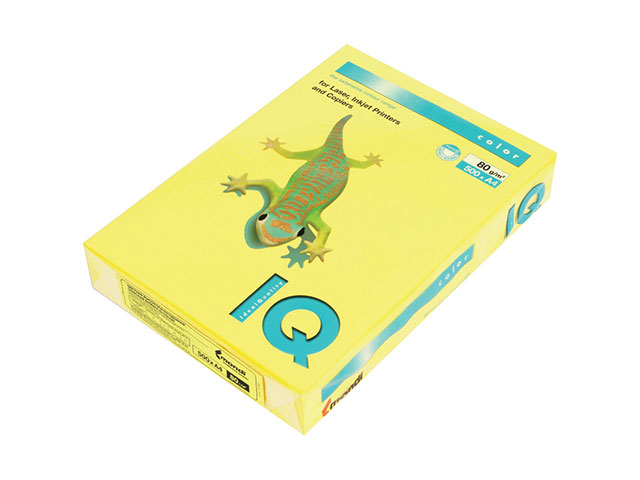 Бумага А4  80 г/м2 500 л. IQ Color интенсив канареечно-желтый CY39 65146