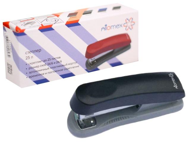 Степлер №24/6-26/6 25л пластик черно-серый Attomex 4142312
