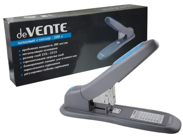 Степлер №23/6-23/23 200л пластик серый DeVente 4142368