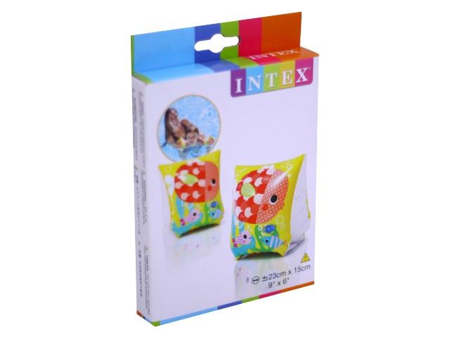 Нарукавники Intex Делюкс 3-6 лет 23*15см Веселые рыбки 58652