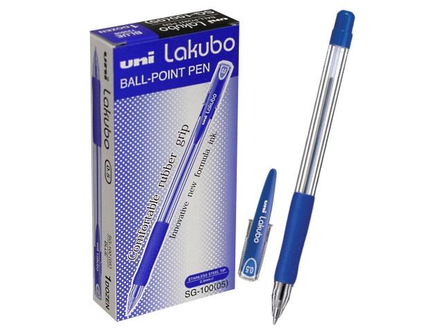 Ручка шариковая Uni Lakubo синяя 0.5мм SG-100
