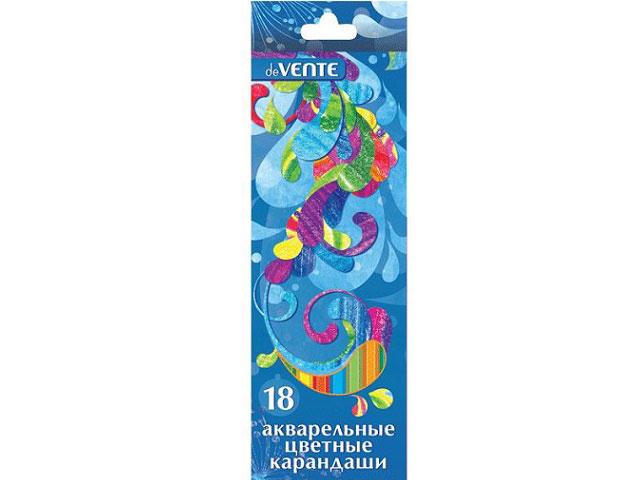 Карандаши цветные 18цв DeVente Agua акварельные 5023307