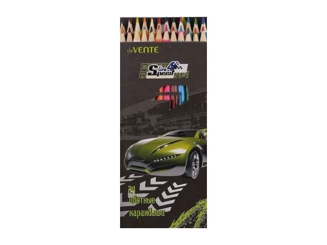 Карандаши цветные 24цв DeVente Live 4 speed шестигранные 5024603