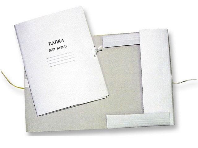 Папка на завязках картон А4 белая 260 г/м2 Attomex 3077408