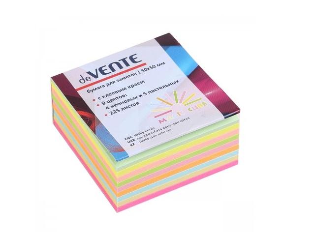 Стикер 50*50мм 225л 9 цветов по 25л Magic Cube DeVente 2010501