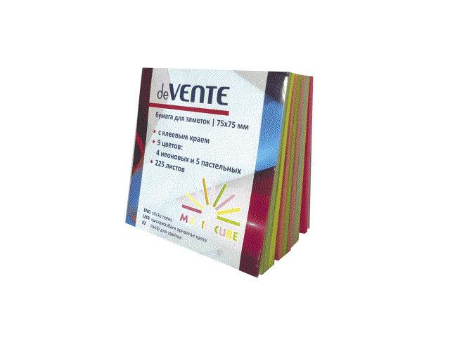Стикер 75* 75мм 225л 9 цветов по 25л Magic Cube DeVente 2010500