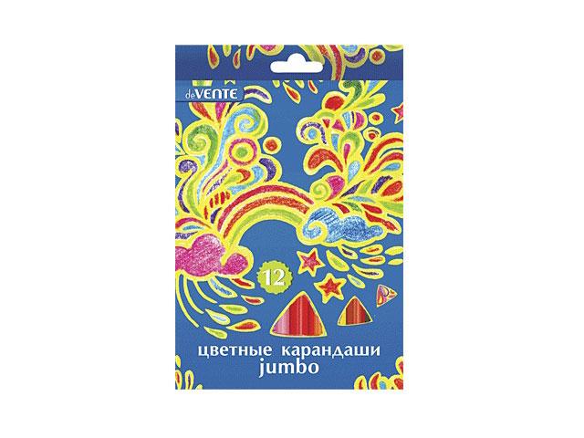 Карандаши цветные 12цв., Jumbo, трехгранные, DeVente