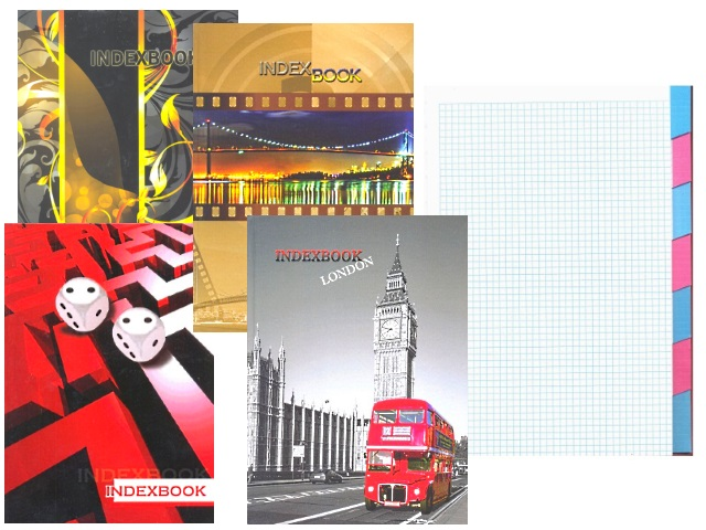 Книга канцелярская А4 128 листов, твердая обложка, 7 разделов, Ульяновский Дом Печати