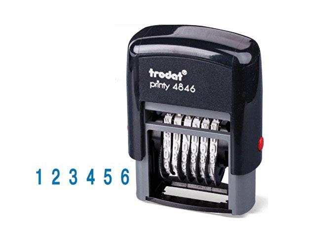 Нумератор  6 разрядов 4мм Trodat 4846
