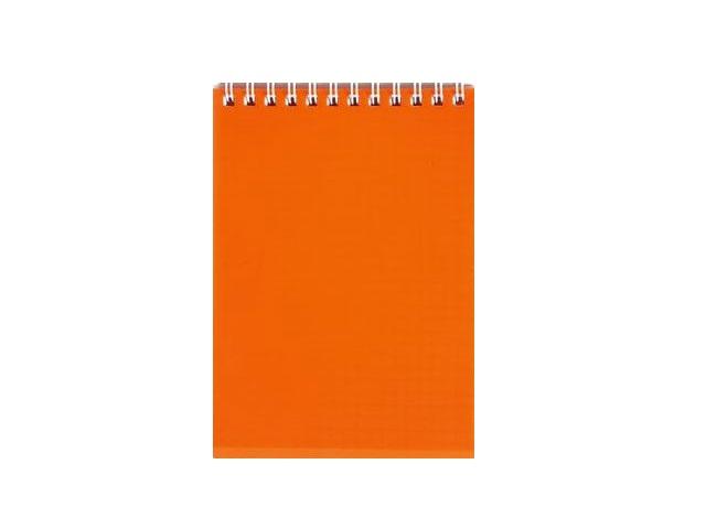 Блокнот А6 спираль сверху пласт/обложка  80л Diamond neon оранжевый 80Б6B1гр_02035