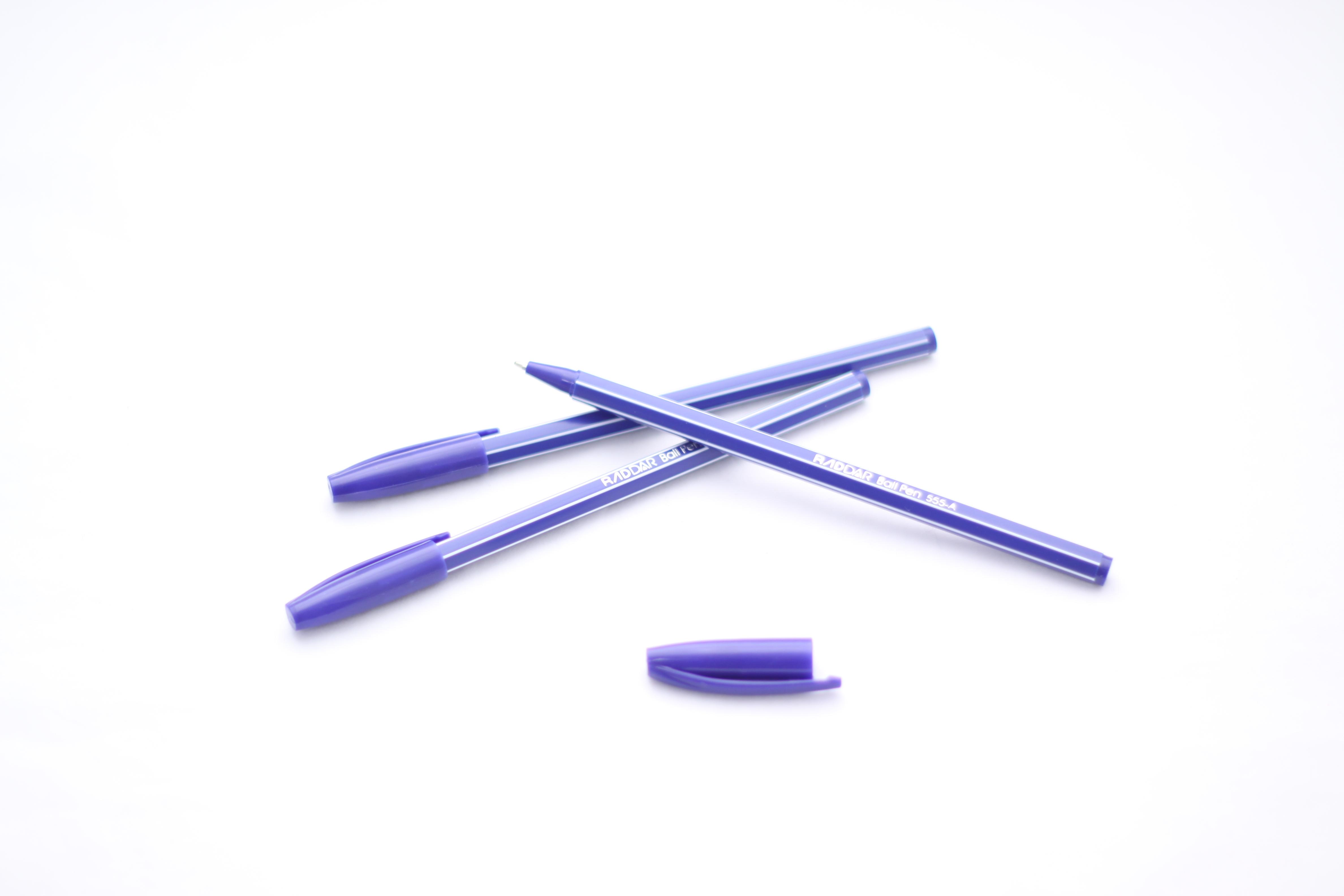 Ручка шариковая Полосы Raddar синяя 0.7мм 555