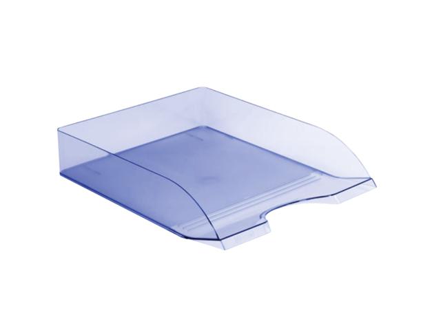 Лоток горизонтальный голубой тонированный Дельта ЛТ654