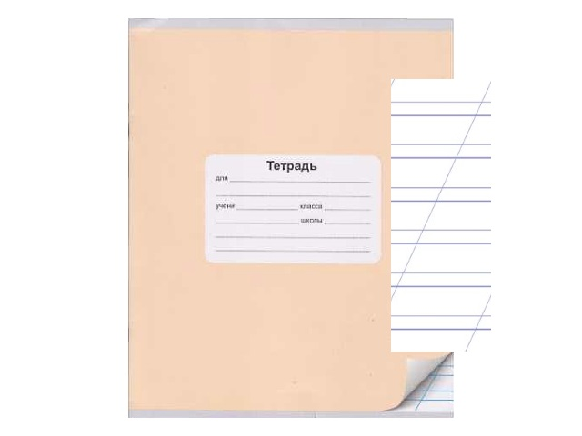 Тетрадь в косую линию 12 листов Монохром, Silwerhof 721478-12