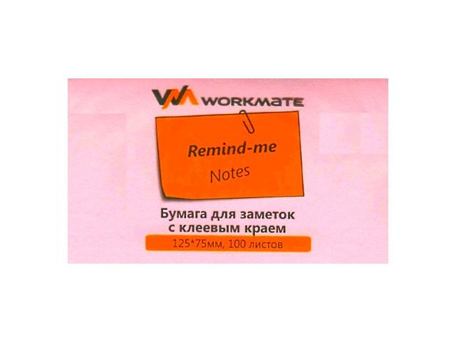 Стикер 75*125мм 100л розовый WM 003000710