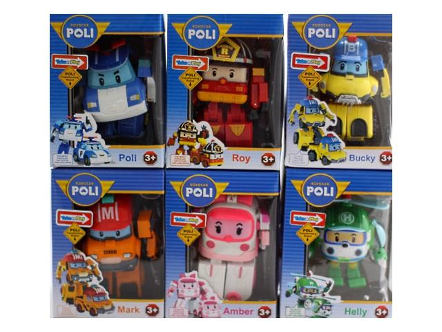 Трансформер пластиковый, Robocar Poli, в коробке