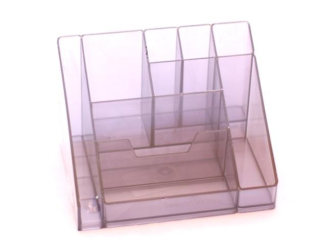 Подставка для ручек  9 отделений Каскад серая Стамм ОР14