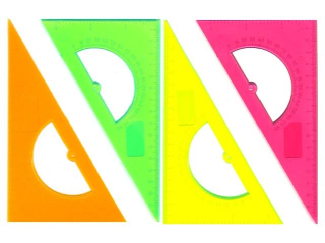 Треугольник 16 см 30*60*90 прозрачный цветной Стамм ТК01