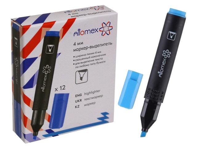 Маркер текстовый Attomex голубой скошенный 1-4мм 5045400