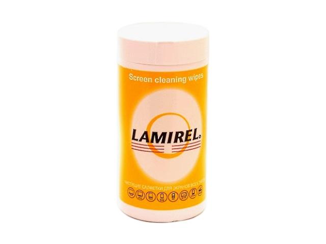 Салфетки для монитора 100 шт. Lamirel LA-11440