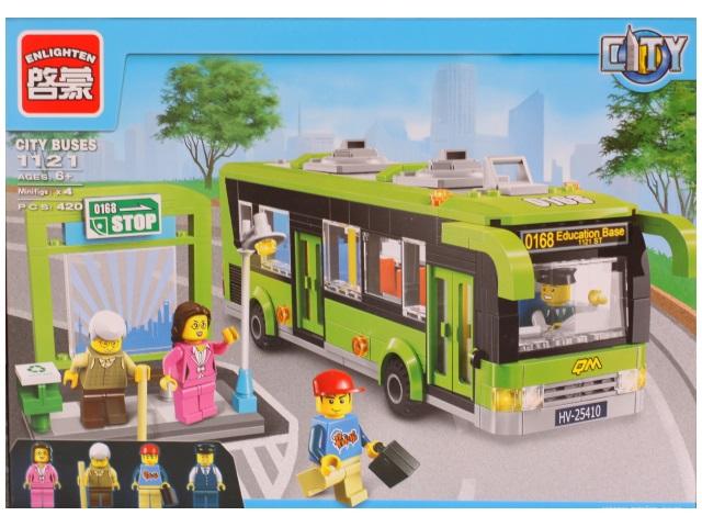 Конструктор 420 деталей City Buses 1121