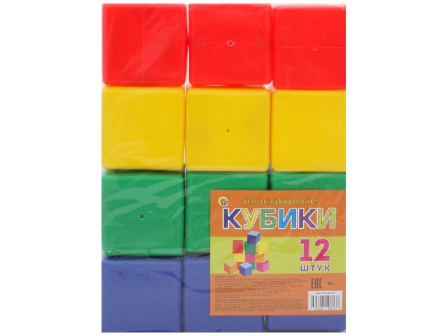 Кубики 12 шт. цветные Рыжий кот К12-0813