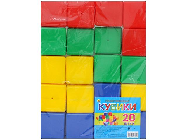 Кубики 20 шт. цветные Рыжий кот К20-0815