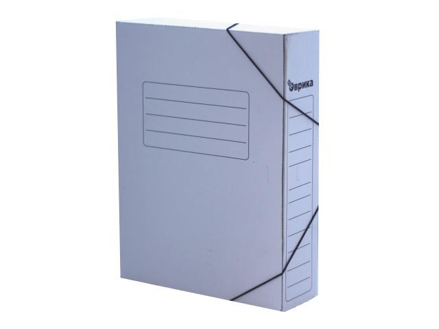 Папка архивная картон на резинке А4  7см Эврика белая DeVente А-П/3-Б 3010425