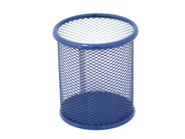 Стакан для ручек металл сетка цветной круглый Basir МС-2843