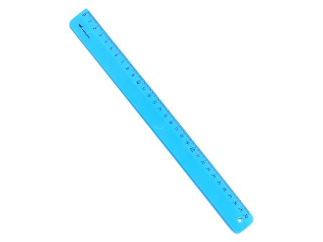 Линейка  30 см неон цветная WM 182001300