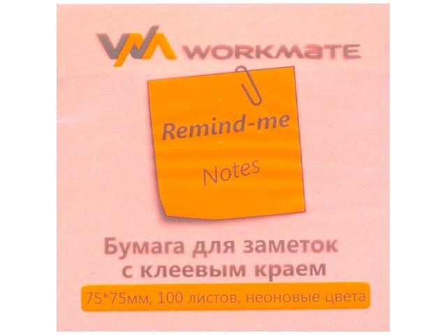 Стикер 75* 75мм 100л розовый WM 003000310