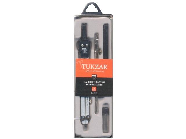 Готовальня 5 предметов в пластиковой коробке, Tukzar TZ 7293