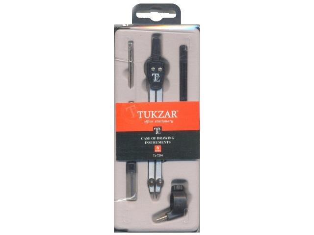 Готовальня 6 предметов в пластиковой коробке, Tukzar TZ 7294