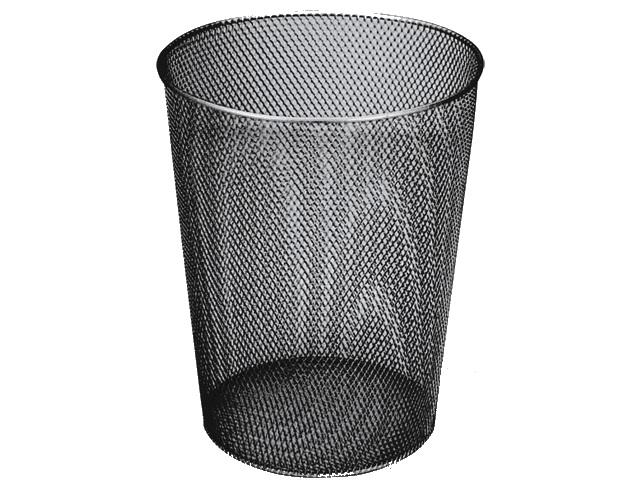 Корзина для бумаг металл сетка 9л черная Brauberg 231958