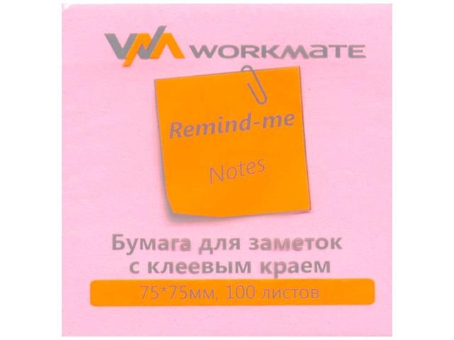 Стикер 75* 75мм 100л неон розовый WM 003001310