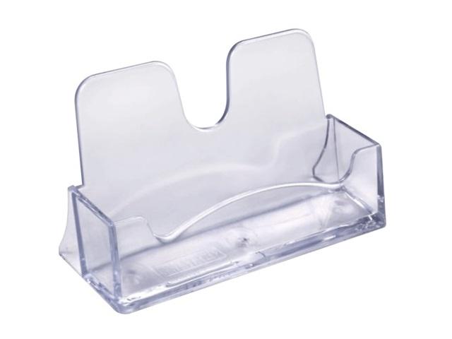 Подставка для визиток пластик прозрачная Стамм ВТ01