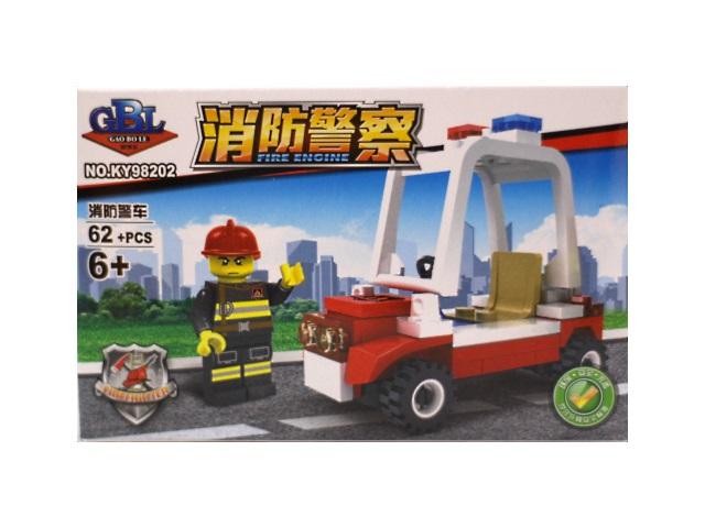 Конструктор  62 детали Пожарная серия KY98202