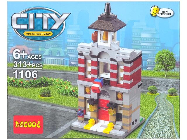 Конструктор 313 деталей Mini Street View 1105-1109