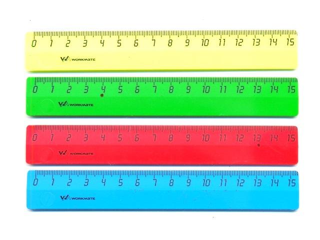 Линейка  15 см неон цветная WM 182000200