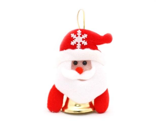Елочная игрушка Дед Мороз с колокольчиком, в пакете