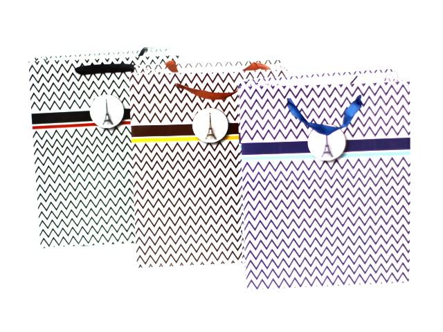 Пакет подарочный бумажный 26*32*11 см, Зигзаг, Basir МС-3833
