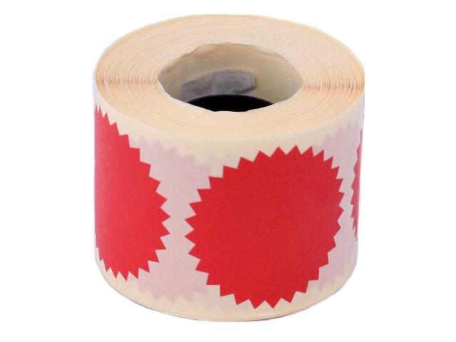 Пломба-наклейка Конгривка, 52 мм красная, для опечатывания любых документов, 3шт, арт. 126674