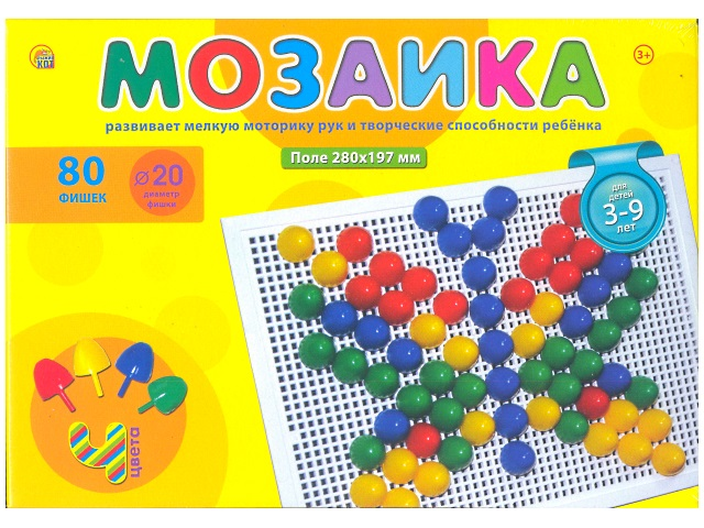 Мозаика  80 деталей d=20мм М-0165
