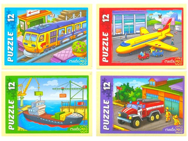 Пазлы   12 деталей Нужный транспорт П12-5642