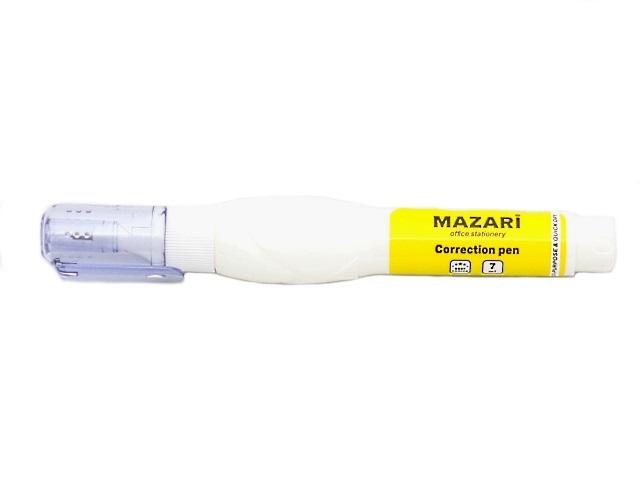 Корректор-ручка  7мл спиртовой Mazari М-4102