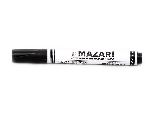 Маркер перманентный Mazari Arctic белый круглый 2мм М-5009
