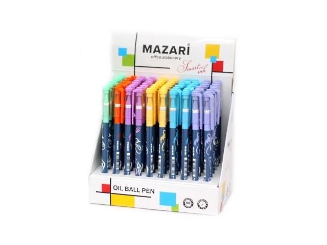 Ручка масляная Mazari Shadow синяя 0.7мм М-5723