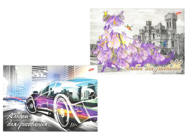 Альбом для рисования 20 листов А4 клееный Принцесса / Автогород, Академия Групп ЕАС-8564/2